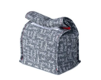 MTO - Insulated lunch bag  - Words