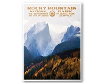 Rocky Mountain National Park Travel Poster