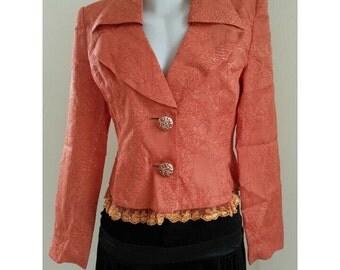 Vintage Orange Blazer Size S