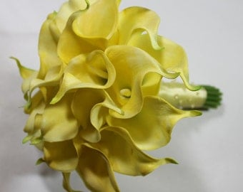Yellow Wedding Bouquet Yellow Calla Lilly Bouquet Bridal Bouquet Yellow Bouquets Wedding Bouquets Bouquets  Calla Lily Wedding Bouquet