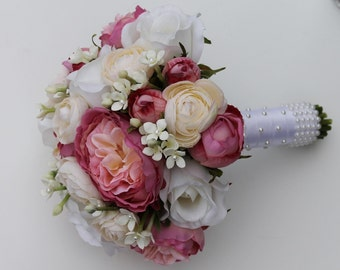 Pink Wedding Bouquet Pink Bouquet Bridal Bouquet Cascading Bridal Bouquet Wedding  Bouquets