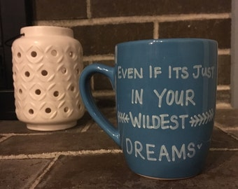 Wildest Dream Taylor Swift, Hand Painted Coffee Mug