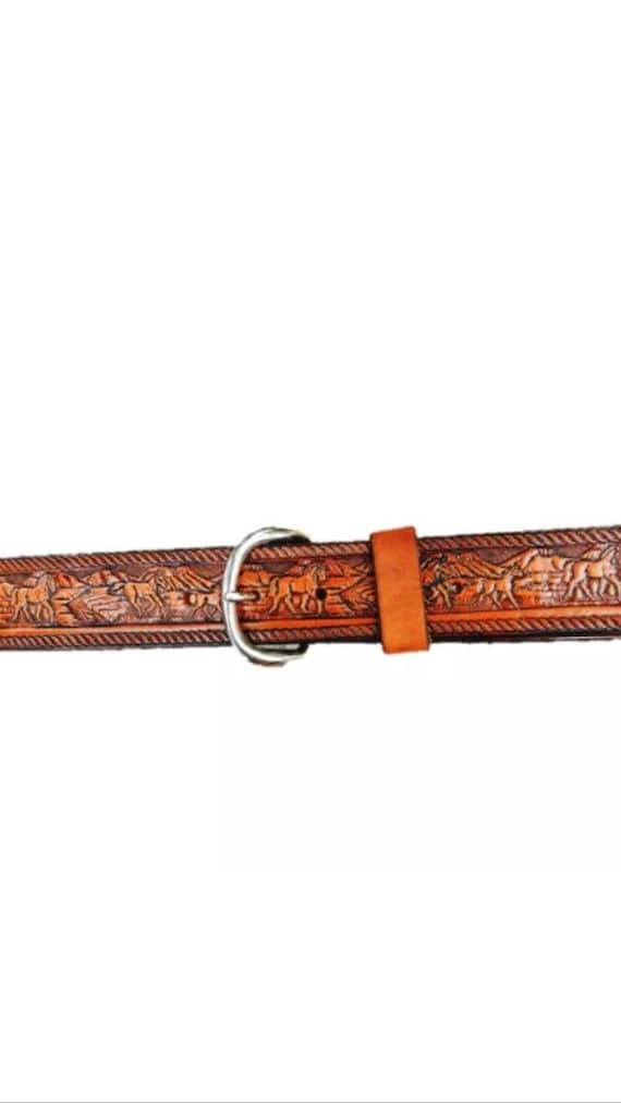 personalized leather belt horses free name by kandcleather
