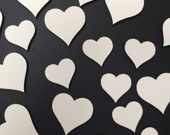 50 x white mdf wooden hearts, family trees, embellishments, crafts
