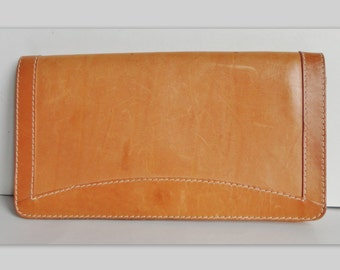 70s Vintage Bag // Tan Leather