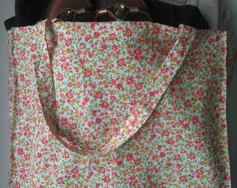 Pink flower bag/Shopping Bag