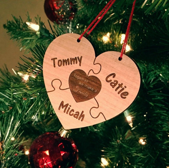 Together We Make A Family Personalized Wood Ornament 28 Names