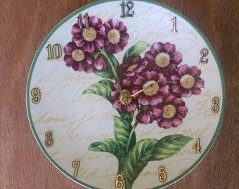 Fragrant Floral 8 Inch Clock