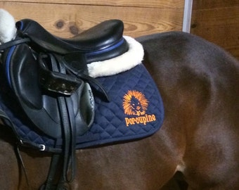 All purpose Saddle pad, Stock Design or a Monogram/name can be put on this pad.