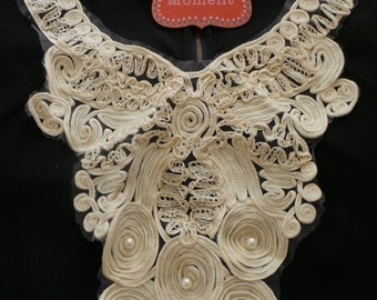 Creme with Pearls Collar