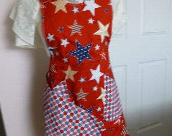 Red stars and polka dot circles