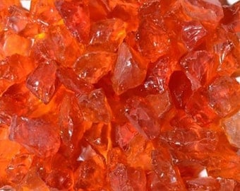Orange Sea Glass, 4LB Bag, Recycled & Tumbled, Mosaic, Craft, School, Weddings, Bulk