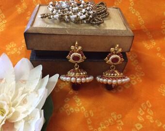 1 gm gold plated jhumka Earrings