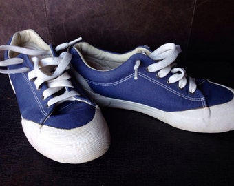 COACH denim canvas tennis shoes size W10 M8.5