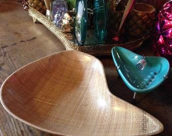Vintage Mid-Century Modern Abaca by Grainware Serving Tray