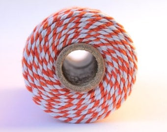 ON SALE-12 Ply Orange Bakers Twine 100 yard spool 12 Ply Thick Cotton String- Birthday Baby Shower Wedding