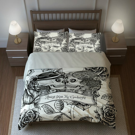 Skull Bedding Sugar Skulls Duvet Cover Comforter By