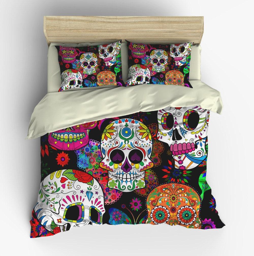 Sugar Skull Bedding Duvet Cover Set - My Sugar Skulls