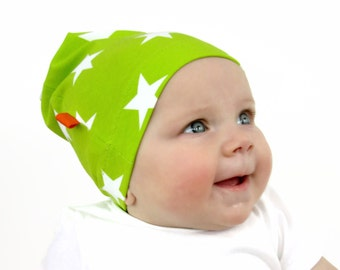 boys slouchy hat, BIG STAR BEANIE in Lime Green, Hipster Slouch Beanie / Toddler Boys Beanie / Child Slouchie Hat / Trendy Kids Hat