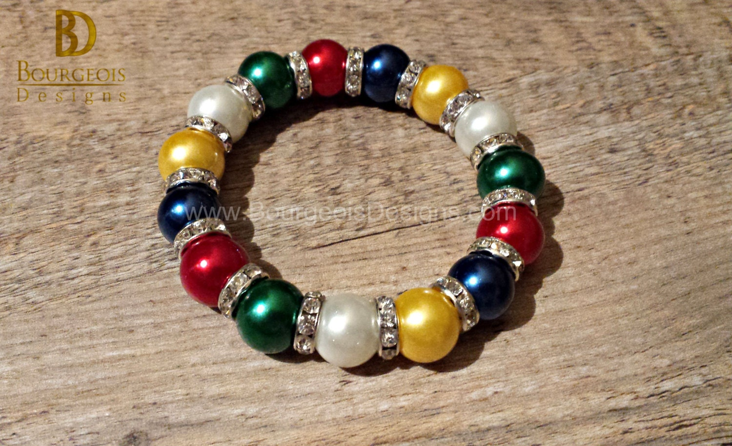 eastern inspired oes of all pearl bracelet