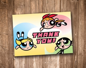 Powerpuff Girls Thank You Card *Instant Digital Download*