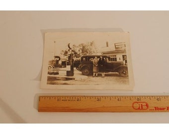 Antique Gas Station / Oil Automobile Store! Old Photo