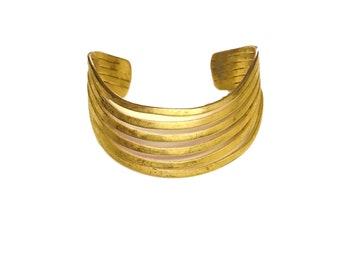 Vintage Goldplated Multi-Layer Cuff Bracelet