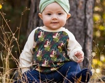 Organic Sweatshirt - Unicorn Meet Mermaid, unicorn baby shirt, unicorn baby girl, unicorn baby clothes, mermaid baby clothes, toddler fall