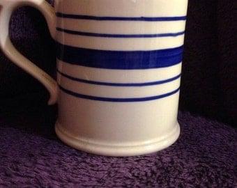 ralph lauren tankard shape mug farmstead ticking vintage quality not used