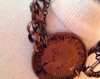 One pence coin bracelet