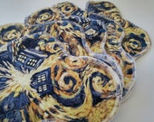 Exploding Tardis Cloth Pads ~ Reuseable Cloth Panty Liner ~ Organic Mama Cloth ~ Washable Cloth Menstrual Products ~ Reusable Cloth Pads ~