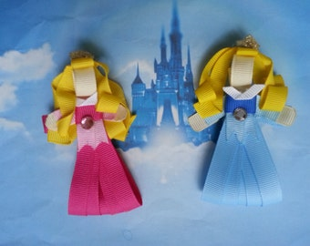Sleeping Beauty/ Princess Aurora Ribbon Sculpture Hair Clip