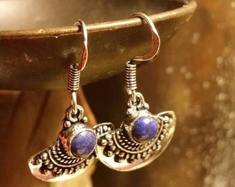 INVENTORY CLEARANCE SALE Lapis Lazuli Earrings Gemstone  .925 Sterling  Silver