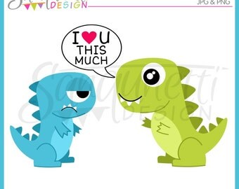 Dinosaur Clipart, Love Clipart, Valentine Clipart,  Tyrannosaurus Clipart, Dino Clipart, Dinosaur Clip Art, Instant Download