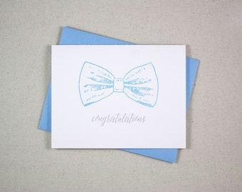 Baby Boy Congratulations - Letterpress Card