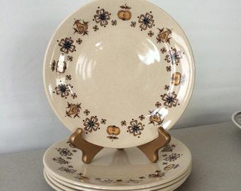 Vintage Johnson Brothers Salad Plates - Lancaster, Old Granite Dishes - set of 5 | fruit plates, johnson bros england, staffordshire china
