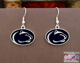 Penn State Nittany Lions Epoxy Logo Earrings