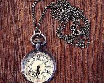 Antique Clock Necklace