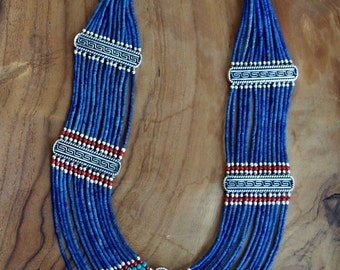 Nepalese Lapis Turquoise Necklace