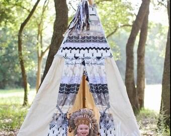 BOY TEEPEE, woodland inspired teepee, deer inspired teepee, childrens teepee, kidsteepee, teepee, 8ft
