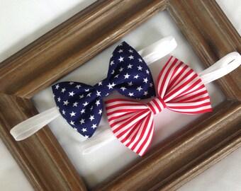 4th of July Headband - Patriotic Headband - Stars and Stripes - Red White and Blue - Fourth of July - Baby Headband - Headband
