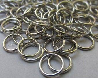 Jump Rings 10mm - 50/100/200 Stainless Steel 16 Gauge Open Jump Rings F0273