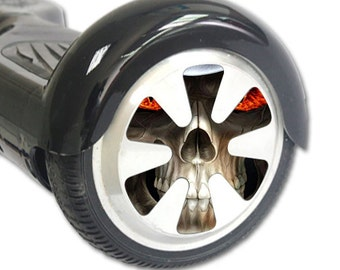 Skin Decal Wrap for Hoverboard Balance Board Scooter Wheels Evil Reaper