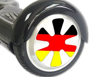 Skin Decal Wrap for Hoverboard Balance Board Scooter Wheels German Flag