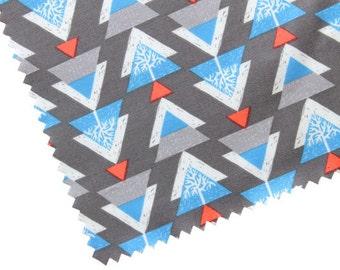 Fabric by the Yard - Quilt Fabric - Snowfall Fabric - Fat Quarter Bundle - Ski Trees - Winter Fabric - Scandinavian Fabric - Modern Fabric