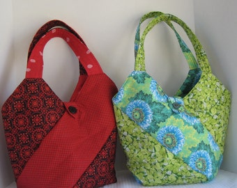 Quilted Bag, Tote bag, Handbag, Quilted handbag, Cotton Bag, Market Bag, Shopping bag, Reversible Bag, Purse