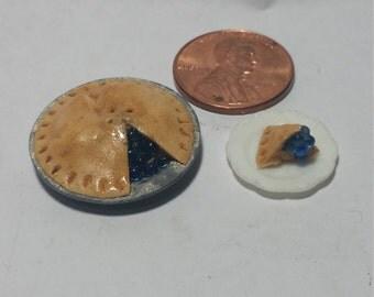 1:12 Scale Blue Berry Pie, Miniature Blue Berry Pie