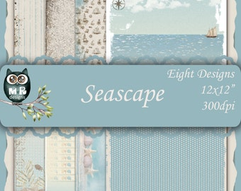 Seascape 12x12 Collection - Instant Download