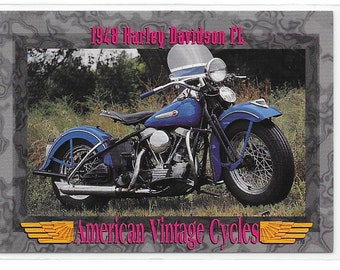 American Vintage Cycles 1948 Harley Davidson FL Trading Card from 1993