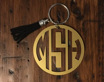 Monogrammed Acrylic Key Chains